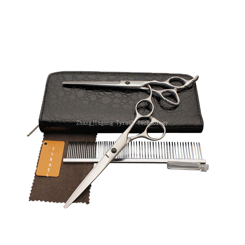 Dog grooming scissors kit P990s for pet hair cutting